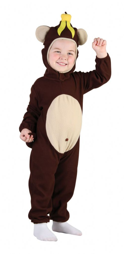 Childs Monkey Toddler Costume Chimpanzee Ape Cheeky Animal Primate Fancy Dress